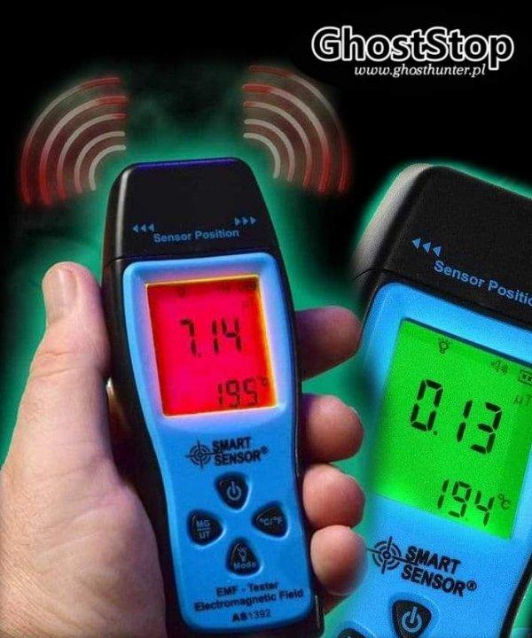 Miernik natężenia pola elektromagnetycznego i temperatury z wbudowanym alarmem