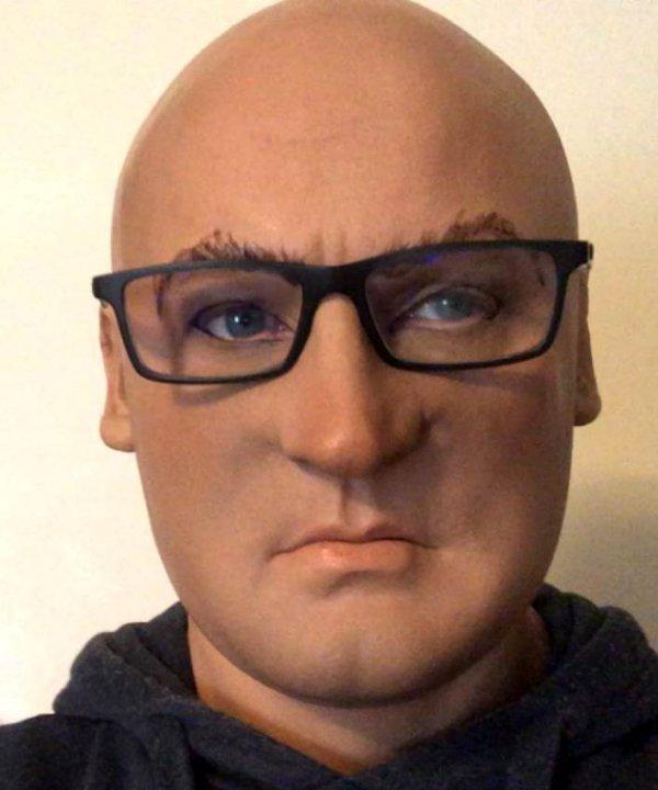 realistyczna twarz mężczyzny