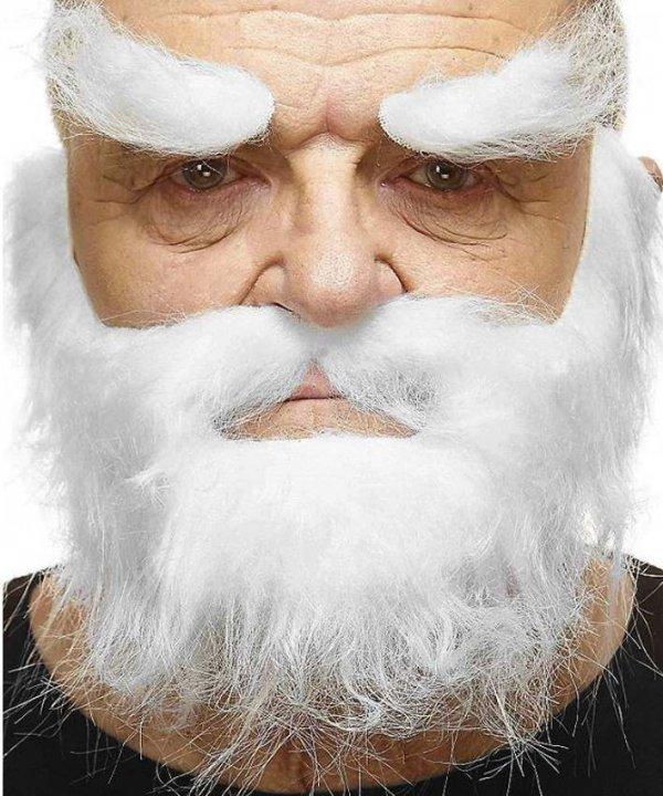 Zarost Świetego Mikołaja biały klasyczny