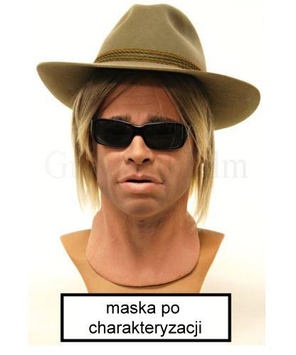 Maska Tristan pełna charakteryzacja, peruka i okulary