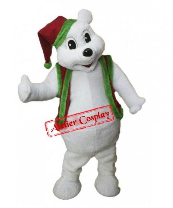 Strój chodzącej maskotki - Miś Polarny Bożonarodzeniowy