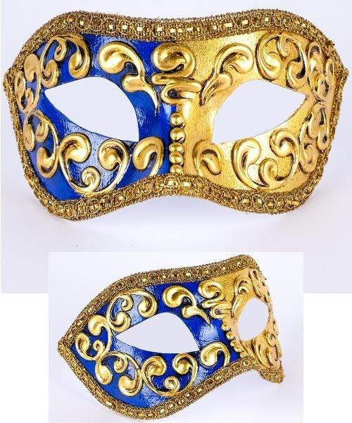 Maska wenecka - Colombina Mezza Blue