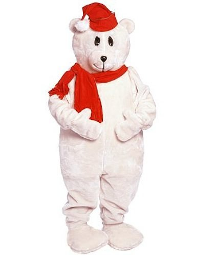 Chodząca maskotka - Bożonarodzeniowy Miś Polarny