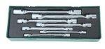 Jonnesway Zestaw 7 kluczy płasko nasadowych przegubowych z wkładką W43A107SP