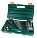 Jonnesway Komplet 12 kluczy SUPER TECH 7w1 płasko-oczkowych z grzechotką 72z. W86112S