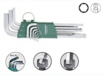 Jonnesway Komplet kluczy ampulowych długich bezpoślizgowych z kulką H05SA109S