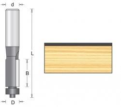 Frez kopiujący z łożyskiem oporowym 12,7x63mm chwyt 6mm