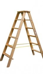 Stabilo drabina dwustronna drewniana ze stopniami 2x6