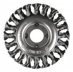 HITACHI Szczotka kołowa INOX 115x22,2x0,5mm pleciona