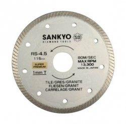 Tarcza diamentowa 113 mm do cięcia twardej ceramiki RS-4.5 ciągła, karbowana 113 x 1,0 x 5 x 22.2mm
