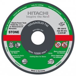 HITACHI Tarcza do cięcia kamienia C24R 115x3,0x22,2mm płaska - STANDARD