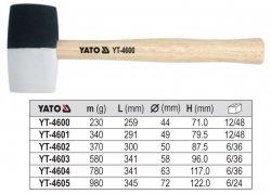 YATO Młotek gumowy z drew trzonkiem 780g YT-4604