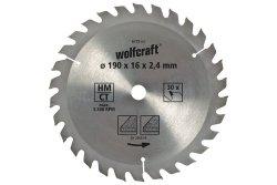 Wolfcraft Piła tarczowa 180x20mm HM 22 z. dokładne cięcia