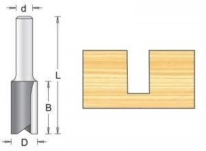 Frez prosty 12x25/66mm, chwyt 12mm