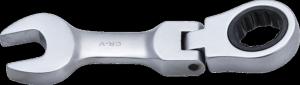 BGS Klucz płasko-oczkowy 14mm grzechotka i przegub