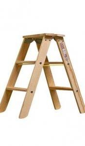 Stabilo drabina dwustronna drewniana ze stopniami 2x3