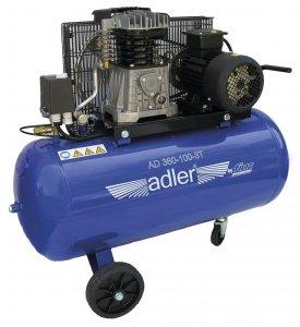 ADLER sprężarka dwucylindrowa 10bar 100L AD 360-100-3T