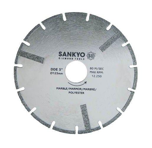 Tarcza diamentowa 110 mm do cięcia kompozytów marmuru tworzyw sztucznych DDE-4.5 nasyp diamentowy 110 x 1,9 x 3 x 22.2mm