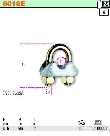 Robur 8018E Złączka kabłąkowa do lin 4-6mm
