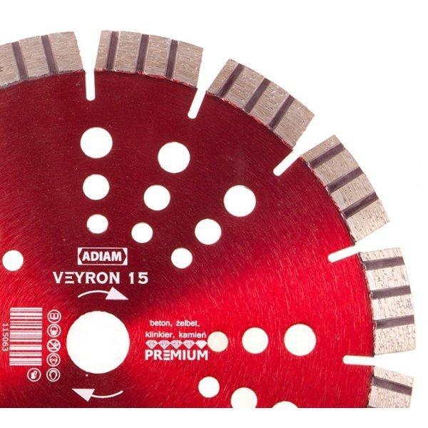 Adiam tarcza diamentowa VEYRON 15 Ø230mm x 22,23mm