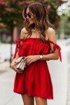 Sukienka ANDI z wiązaniami na ramionach