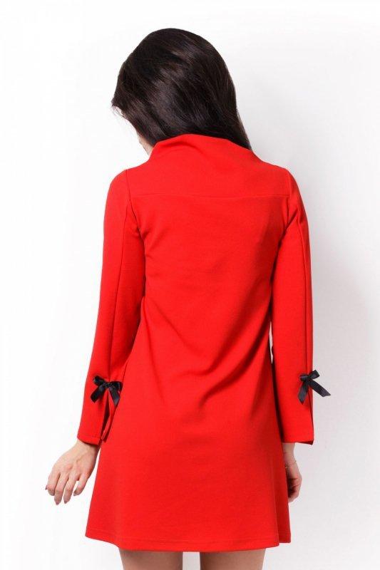 Trapezowa Sukienka Natalie - Czerwony