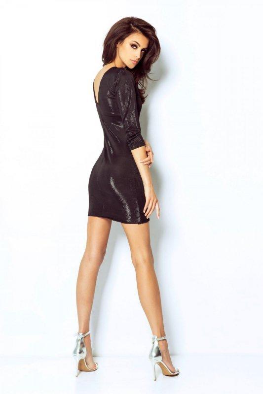 Błyszcząca Sukienka Cleo - czarny