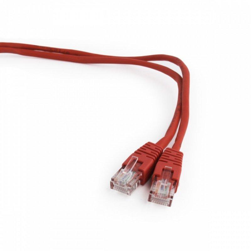 Gembird Patch cord kat.5e osłonka zalewana 3M czerwony