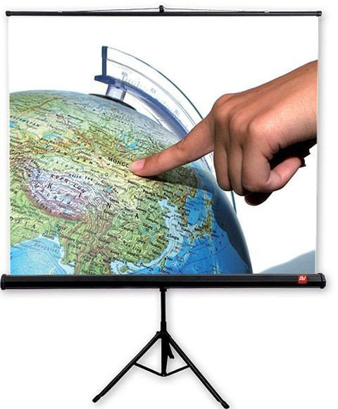 AVTek Ekran na statywie Tripod Standard 150, 1:1, 150x150cm, powierzchnia biała, matowa