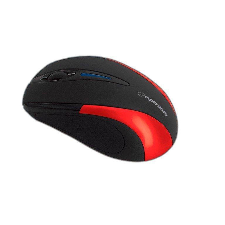 Esperanza Bezprzewodowa Mysz optyczna EM101R USB, 2,4 GHz, NANO odbiornik