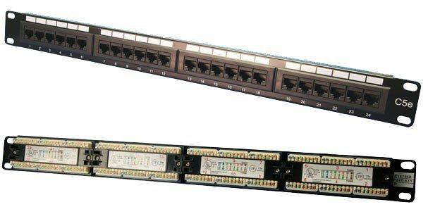 LogiLink Patch panel CAT5e 24-porty