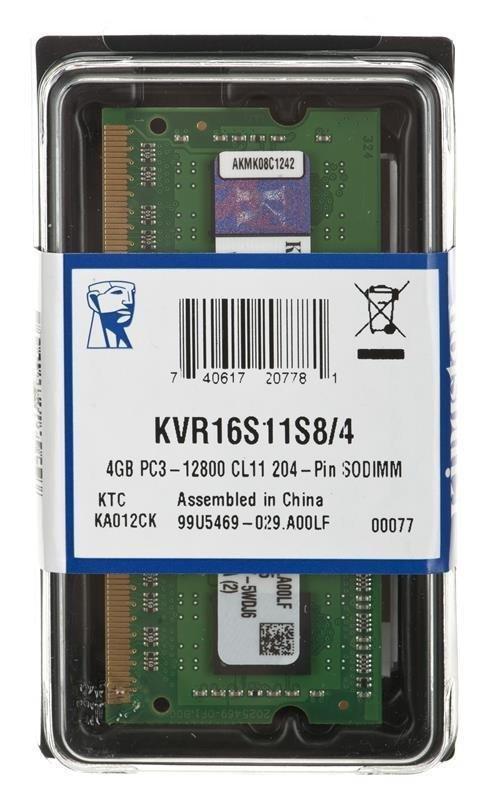 Kingston DDR3 SODIMM 4GB/1600 CL11