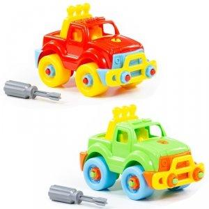 Kolorowy Samochód Jeep Ze Śrubokrętem