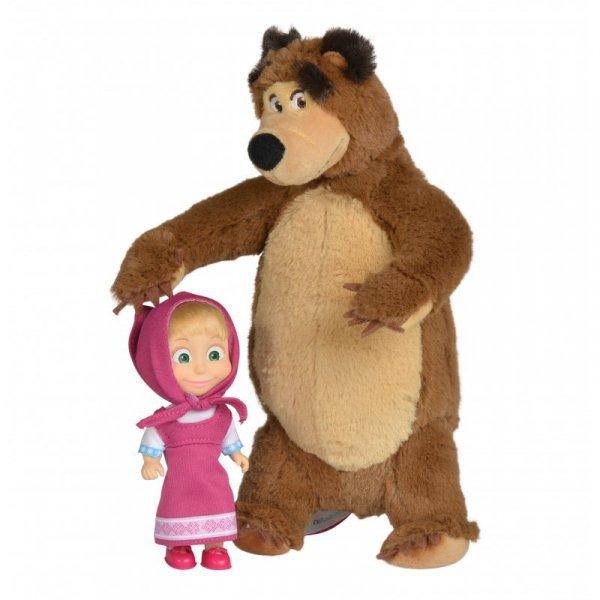 Simba Lalka Masza i Pluszowy Niedźwiedź 2w1 Zestaw