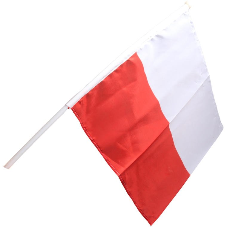ZESTAW KIBICA POLSKA KOMPLET SZALIK FLAGA SMYCZ