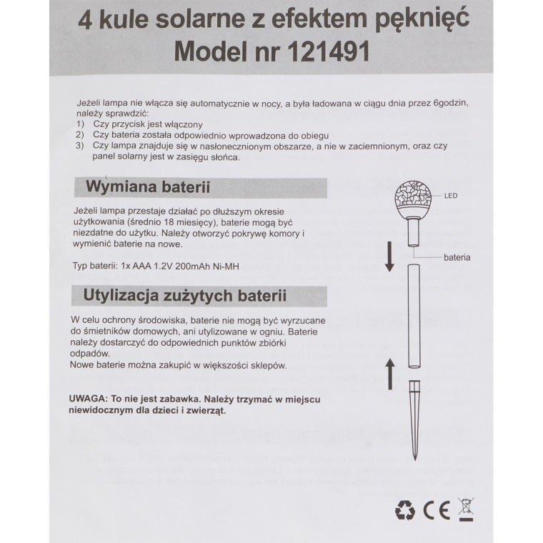 LAMPKI SOLARNE KULE 4 SZT LAMPKI OGRODOWE SOLARNE