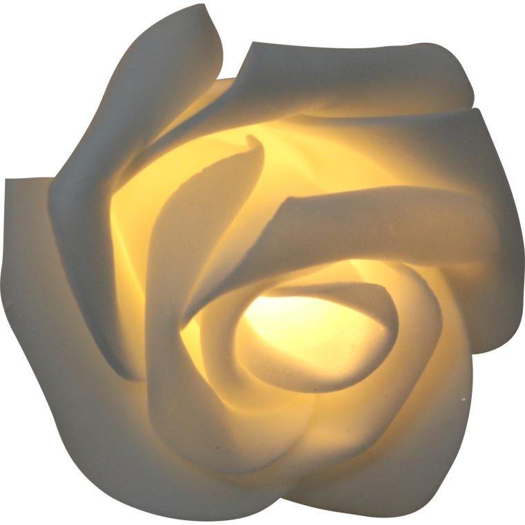 LAMPKI BIAŁE RÓŻE 5CM 20 LED SZNUR OŚWIETLENIE