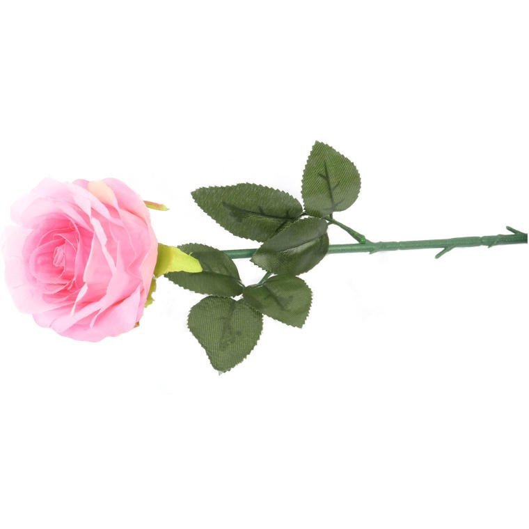 Kwiat sztuczny róża różowa ozdoba dekoracja kompozycja