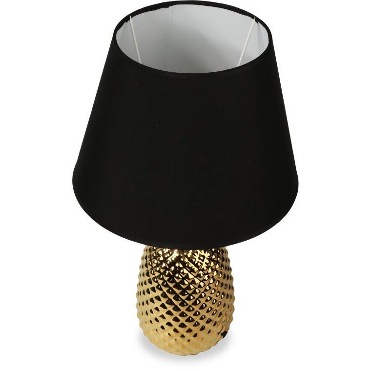 LAMPA LAMPKA NOCNA SALON POKÓJ CZARNY ABAŻUR