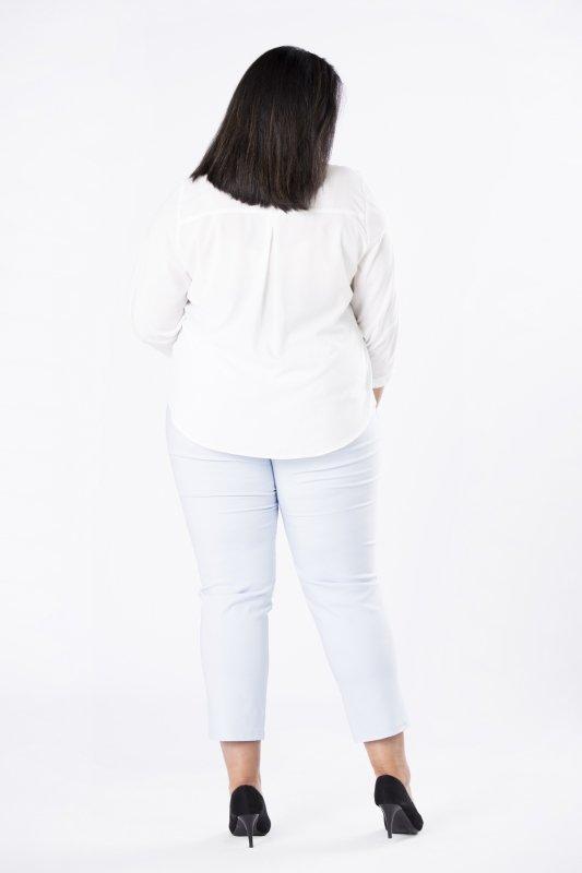 bluzka o koszulowym kroju z fontaziem