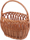 Kosz na zakupy (ażur/wzór 1) - sklep z wiklina - zdjęcie