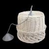 Żyrandol (Biały/38cm) - sklep z wiklina - zdjęcie