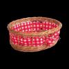 Tacka ażurowa z materiałem (Owalna/25cm) - sklep z wiklina - zdjęcie