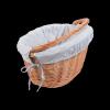 Kosz rowerowy z wkładem (Clik/naturalny) - sklep z wiklina - zdjęcie 1