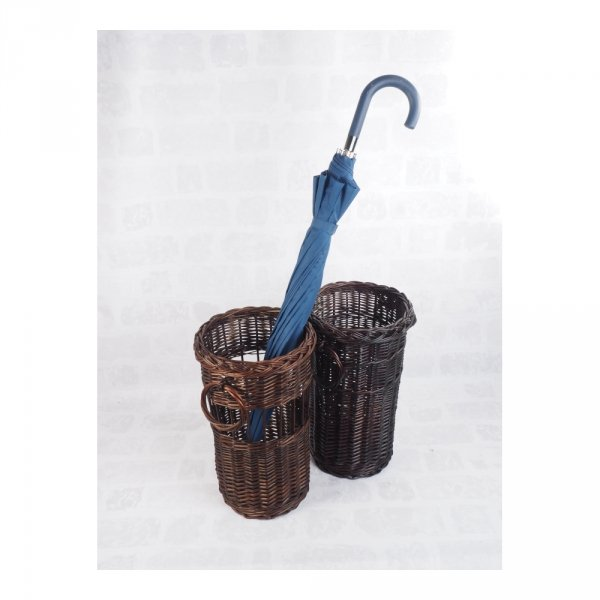 Kosz na parasole (Pełnopleciony/Wenge) - sklep z wiklina - zdjęcie 1