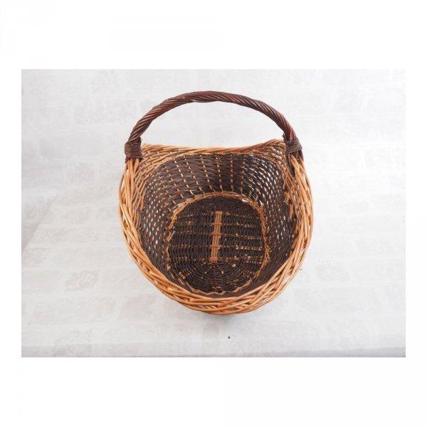 Kosz na drewno do kominka (maczuga/70cm) - sklep z wiklina - zdjęcie 1