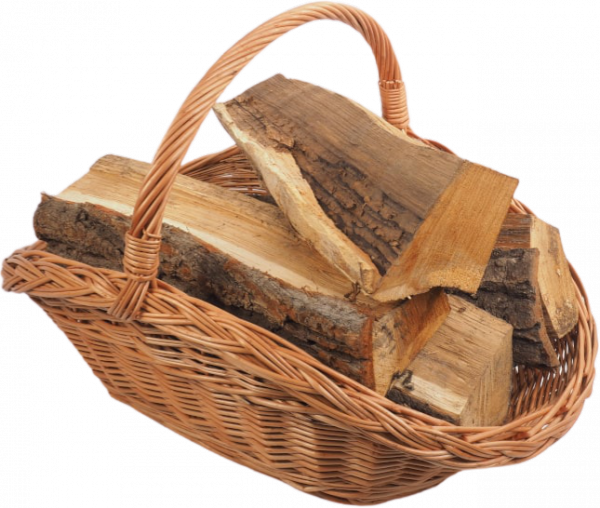 Kosz na drewno do kominka (talerz) - sklep z wiklina - zdjęcie