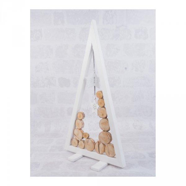 Choinka Drewniana (Biała/Plaster/60cm) - sklep z wiklina - zdjęcie 2