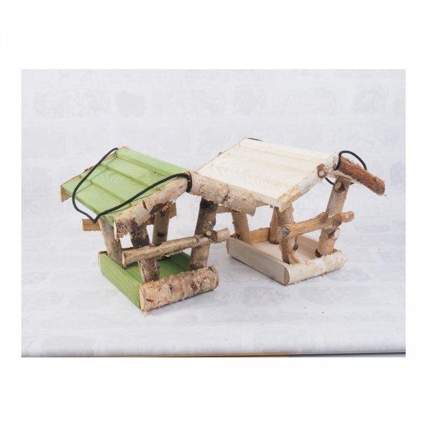 Karmnik dla ptaków (Brzoza/Kolor/Średni) - sklep z wiklina - zdjęcie 5
