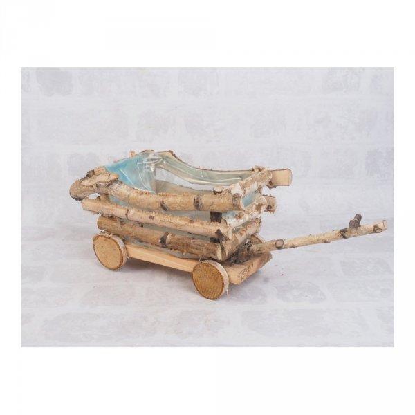 Donica brzozowa (wóz) - sklep z wiklina - zdjęcie